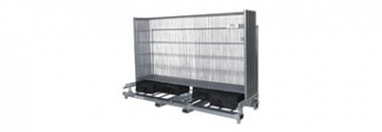 Composite pallets for barriers and fences